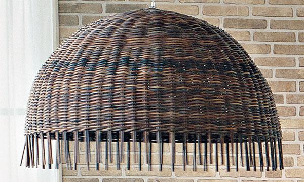Závesné svietidlo Gervasoni Croco 96, surový ratan, ručne pletený, priemer 100 cm, výška 59 cm, cena na vyžiadanie,  Konsepti