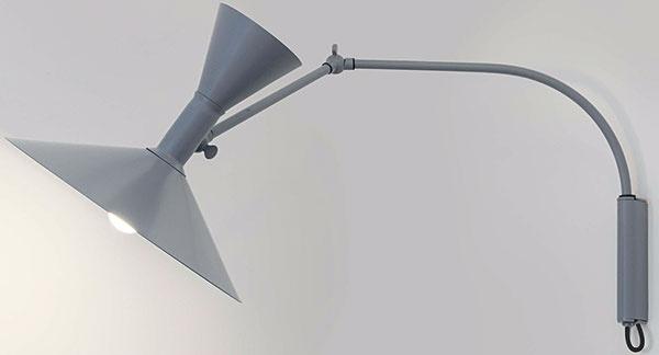 Nástenné svietidlo Lampe de Marseille, dizajn Le Corbusier pre Nemo Cassina, 462 €/kus, www.lunixx.sk