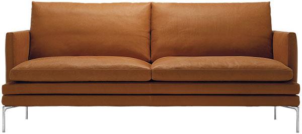 Sedačka Zanotta William, kožené čalúnenie, 87 × 180 × 90 cm, cena na vyžiadanie, www.kabinet.sk