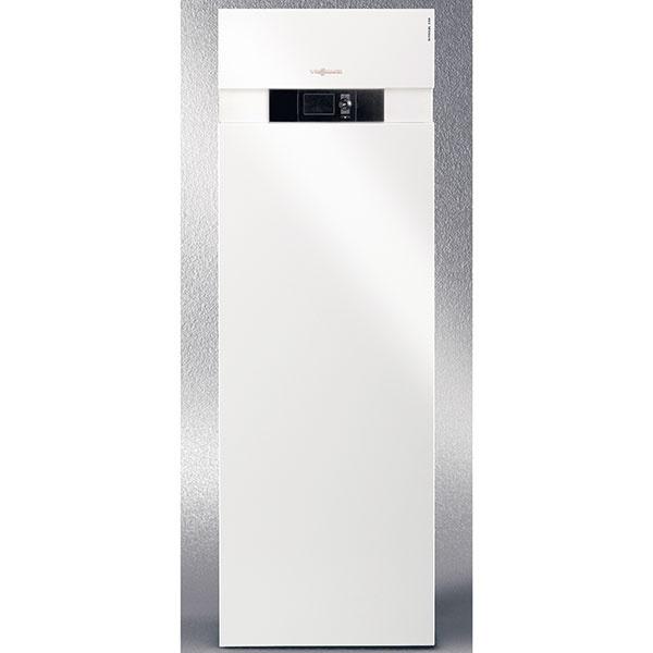 """Tepelné čerpadlo soľanka/voda Vitocal 333-G typ BWT na vykurovanie, ohrev vody a chladenie, menovitý tepelný výkon 5,9 až 10,3 kW, integrovaný zásobník teplej vody s objemom 170 l, vysokoúčinné obehové čerpadlo pre primárnu a sekundárnu stranu, 3-cestný prepínací ventil na ohrev pitnej vody, doplnkový elektrický prietokový ohrievač vykurovacej vody 9 kW, integrovaná funkcia chladenia """"natural cooling"""", orientačná cena od 8 972 €, www.viessmann.sk"""
