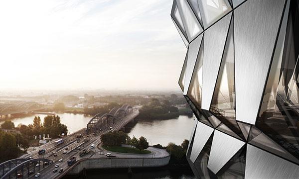 Schüco ohúrilo detailným riešením konceptu 3D parametrickej fasády