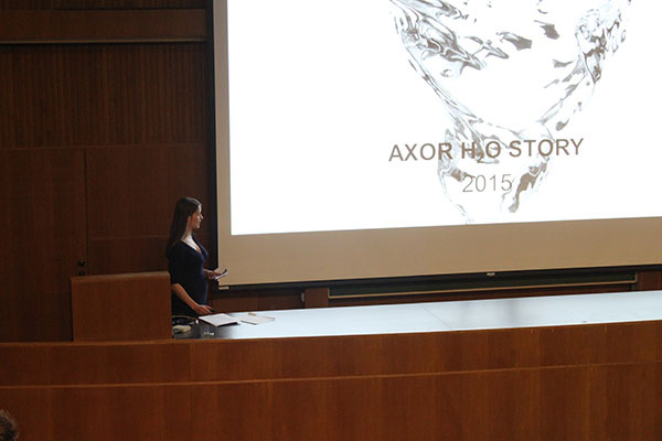 Axor H₂O story medzi študentmi