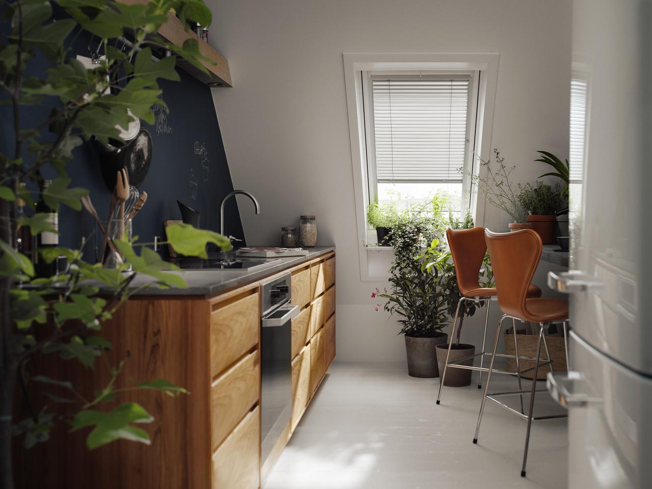 Strešné okná privedú denné svetlo aj do častí, umiestnených v hĺbke miestnosti