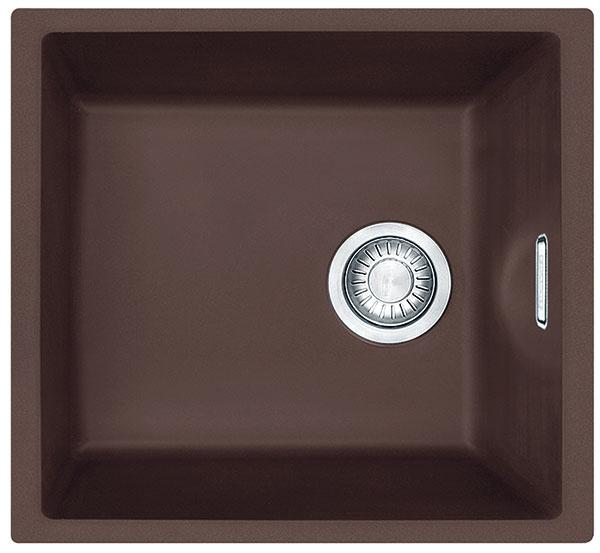 Tectonitový drez Franke Sirius (SID 110-34), spodná skrinka od 450 mm, určený na spodnú montáž do žuly a umelých kameňov, dostupný v 4 farbách, 134 €