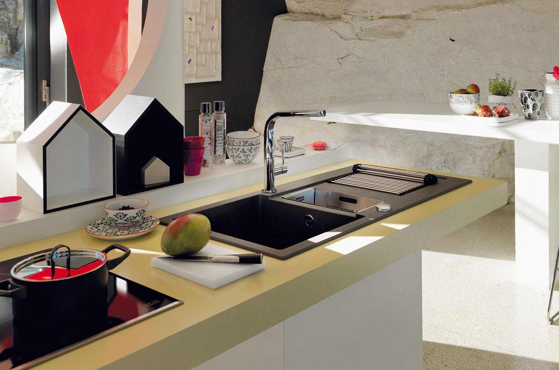 Fragranitový drez Franke Maris (MRG651), 1,5 drez s odkvapovou plochou, spodná skrinka od 60 cm, dostupný v 9 farbách, 384 €