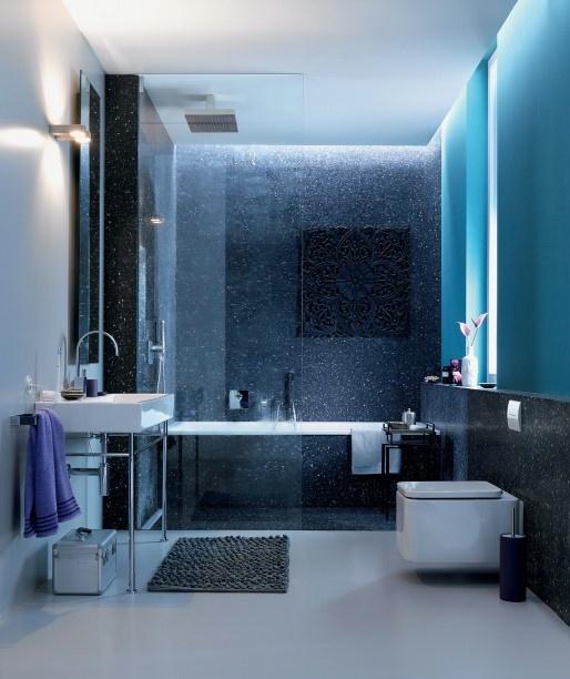 12 modrých tipov pre očarujúcu kúpeľňu