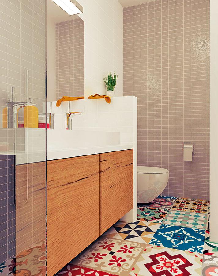 Toaleta je oddelená nielen práčkou asušičkou od vstupu, ale aj prostredníctvom sadrokartónovej stienky od umývadla.