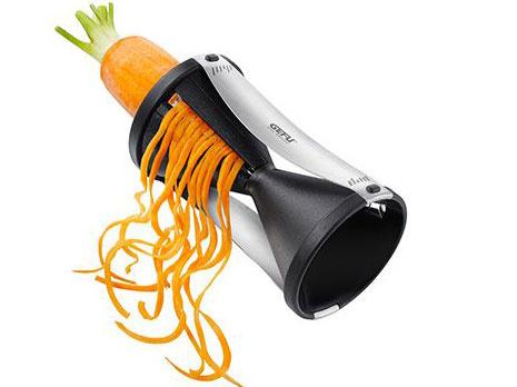 čisto zeleninové špagety so špirálovým strúhadlom GEFU