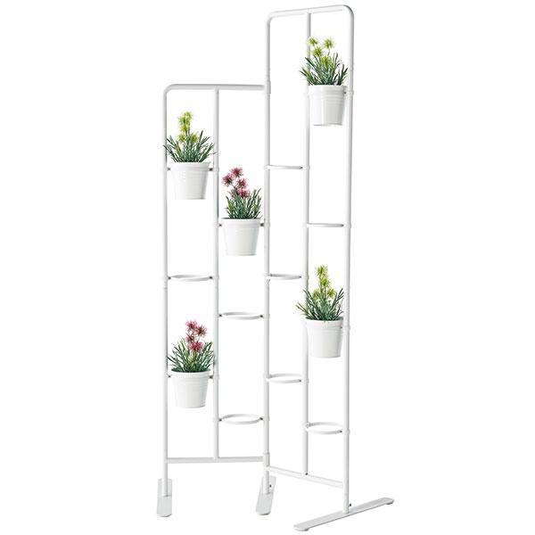 Stojan na kvety SOCKER, na 13 kvetináčov spriemerom 12 cm, oceľ, 73 × 162 cm, 34,99 €, IKEA