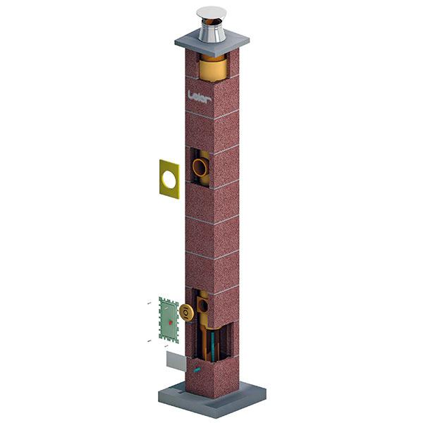 Komínový systém Leier Multikeram slúži na pripojenie vykurovacích zariadení na rôzne palivá sotvorenou spaľovacou komorou, ktoré vykurujú bytové alebo rodinné domy.