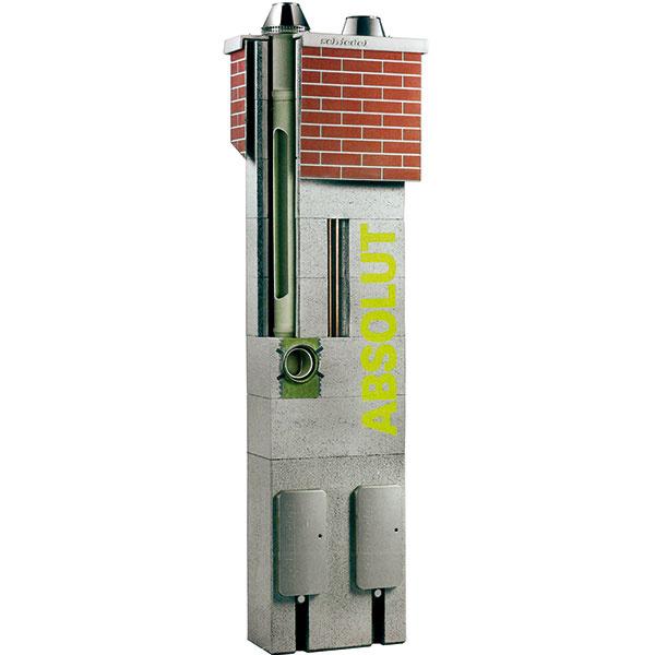 Viacvrstvový keramický systém Schiedel Absolut je určený kvšetkým typom spotrebičov – kondenzačné spotrebiče, spotrebiče vo vyhotovení turbo, ako aj tie sotvorenou spaľovacou komorou – na všetky typy paliva (plyn, olej, drevo, peletky, štiepka).