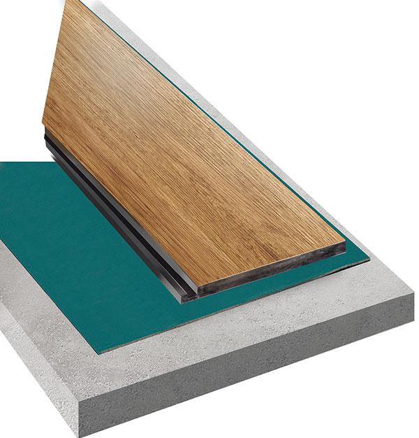 Na dokonalejšie vyrovnanie podkladu a lepšiu zvukovú izoláciu sa odporúča použiť pod plávajúce vinylové podlahy podkladové podložky.
