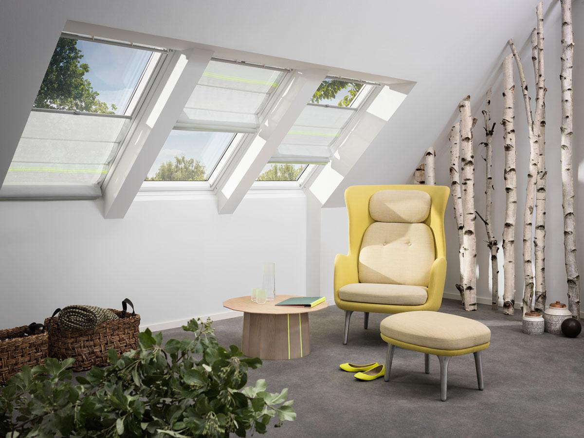 Súčasťou farebnej kolekcie roliet sú aj tzv. rímske rolety – šesť nádherných dizajnov vytvorilo dizajnérske duo Scholten & Baijings.