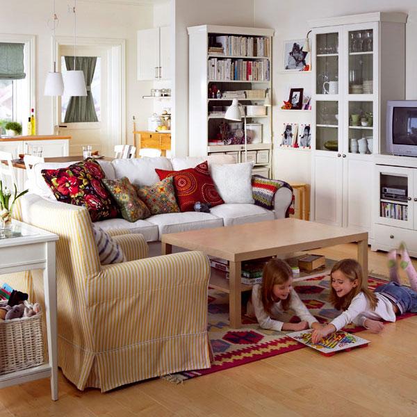 Obývačka a spálňa v malom byte