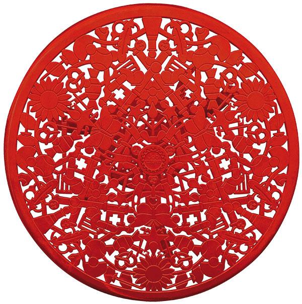 Odkaz na tradíciu kovového nábytku z 18. storočia redizajnovalo štúdio Studio Job pre značku Seletti. Pôvodné tvary nábytku oživili vzormi detských symbolov.