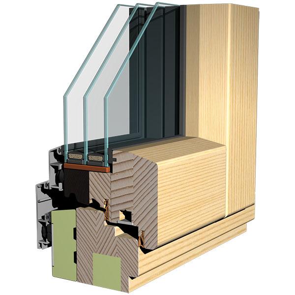 Kaktuálnym trendom patria drevo-hliníkové okná. Zexteriérovej strany rámu je hliník, ktorý zabezpečuje odolnosť proti poveternostným vplyvom aj mechanickému poškodeniu, minimálnu náročnosť na údržbu adlhú životnosť.