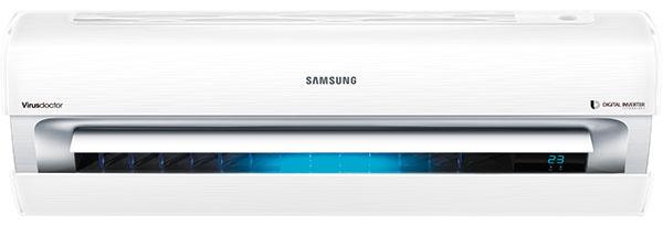 Samsung AR9000 Nástenná klimatizačná jednotka Výkon (chladenie/vykurovanie): 2,5/3,2 kW Energetická trieda (chladenie/vykurovanie): A++/A++ Hlučnosť: 15 dBA Funkcie: ovládanie cez smartfón (wifi); funkcia Virus Doctor, ktorá odstraňuje alergény vrátane vírusov; dvojstupňové chladenie, rýchle chladenie, spánkový režim, odvlhčovanie, tichý chod, jeden užívateľ, časovač, displej s ukazovateľom teploty; niekoľkostupňová filtrácia; automatické čistenie a indikátor čistenia filtra. 1 359 €