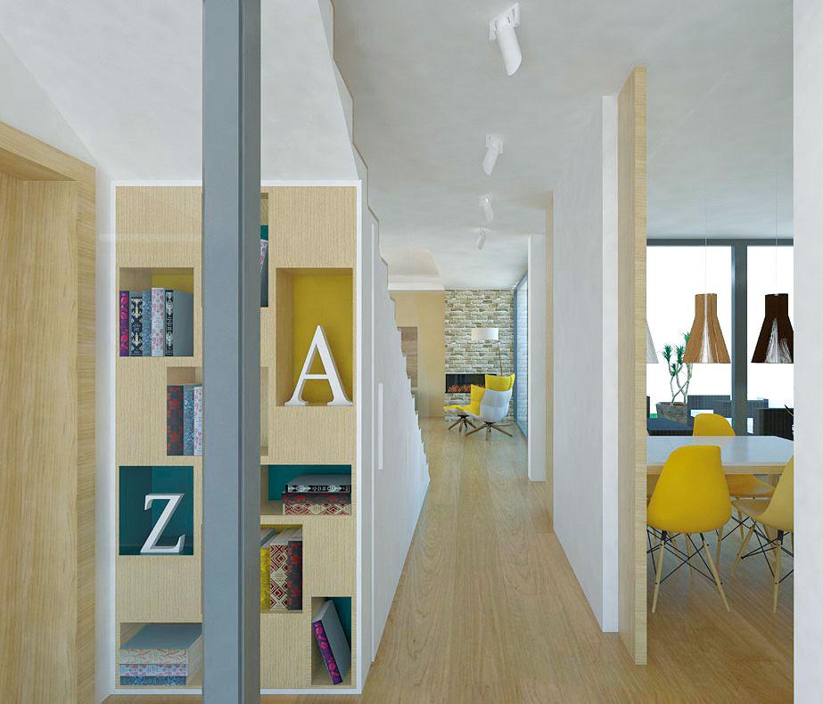 Chodba prepájajúca jednotlivé zóny by mala vzhľadovo amateriálovo korešpondovať so zvyškom interiéru, vďaka čomu bude pôsobiť jednotne, čo oceníte nielen vmenších priestoroch. Uplatnenie tú nájde napríklad aj knižka, ktorá ju zdynamizuje.