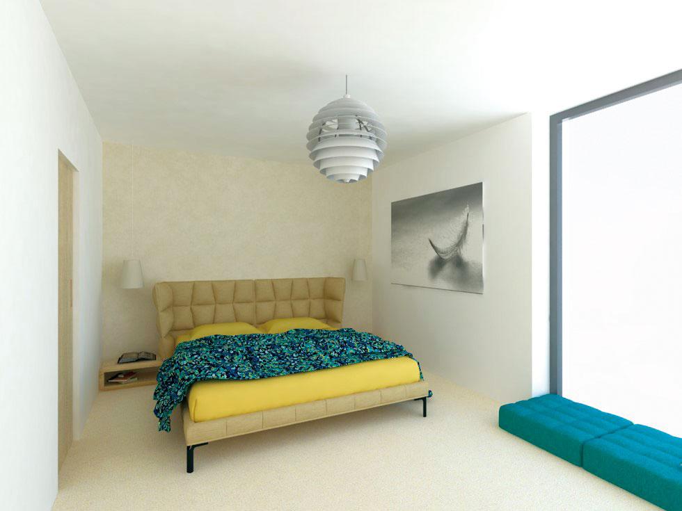 Vmalej spálni slúžiacej výhradne na spanie bez pracovnej časti či kútika na čítanie postačia posteľ anočné stolíky. Spravidla sa tu však nachádza aj skriňa na uskladnenie oblečenia. Vhodné sú rôzne vstavané riešenia, ktoré ponúkajú dostatok úložného priestoru apôsobia čistým dojmom.