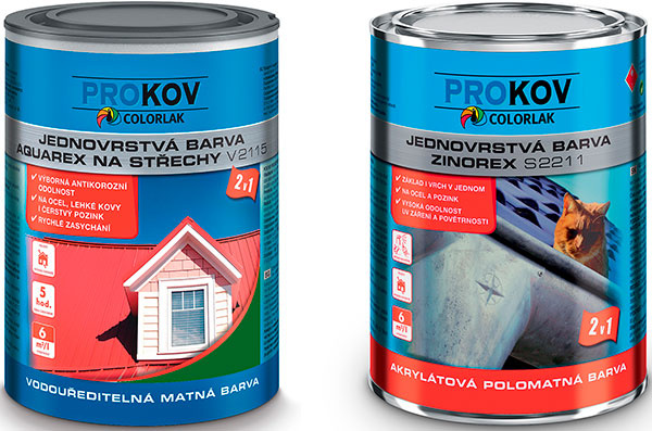 Moderné farby na kov: COLORLAK Aquarex, COLORLAK Zinorex.