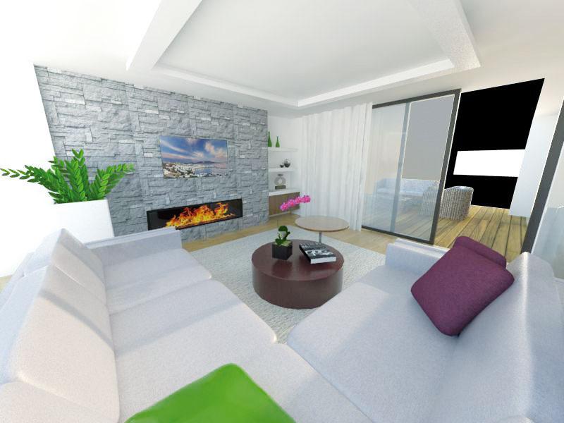 Vobývacej izbe sa často preferuje nábytok vneutrálnych atlmených farbách. Vyhrať sa môžete sdoplnkami – možno ich kedykoľvek vymeniť ado interiéru vniesť nový život. (študentská práca)