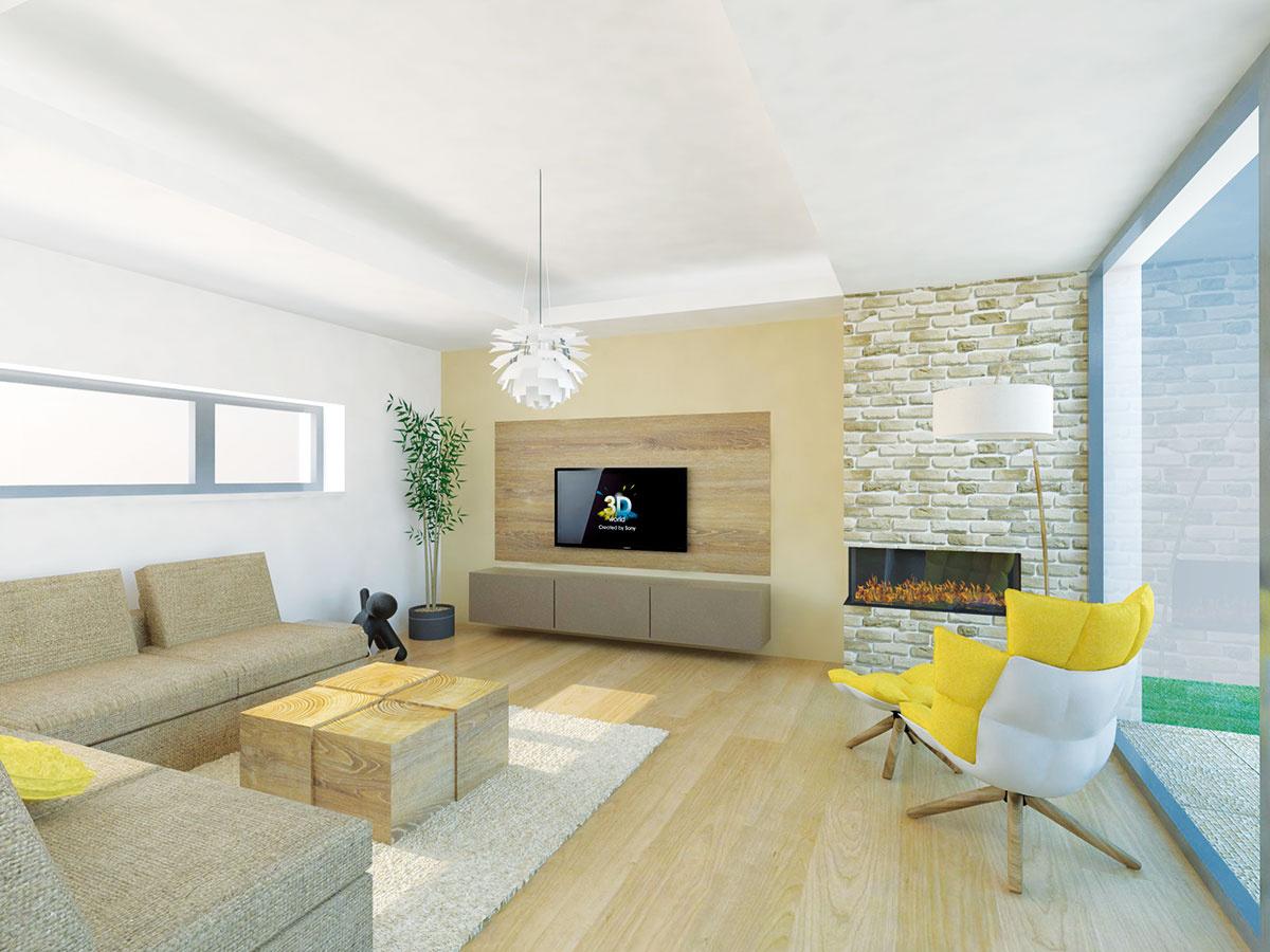 Drevo je pre svoj na pohľad príjemný vzhľad vobývacej izbe vítaným materiálom. Objaviť sa môže na podlahe, stene aj jednotlivých kusoch nábytku. Vtakomto prípade sa odporúča voliť drevo sidentickým alebo príbuzným dekorom. (študentská práca)