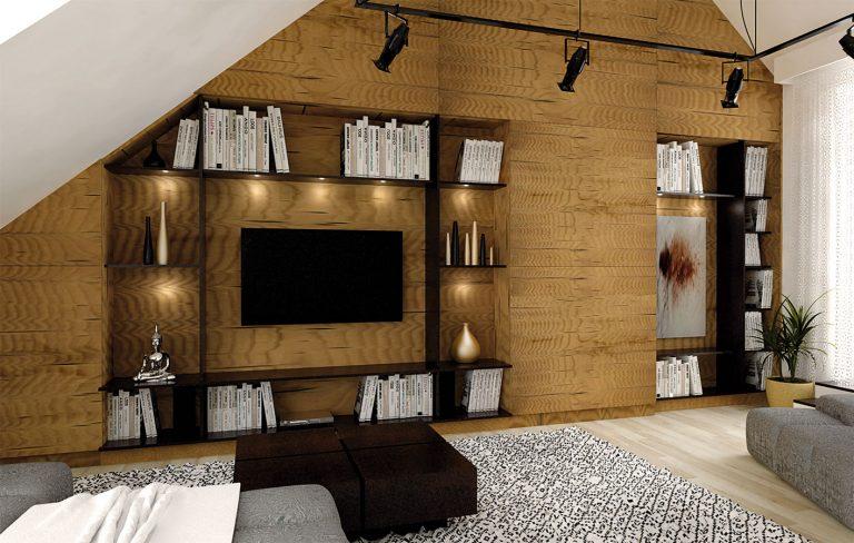 Návrh malého podkrovného bytu plný netradičných riešení