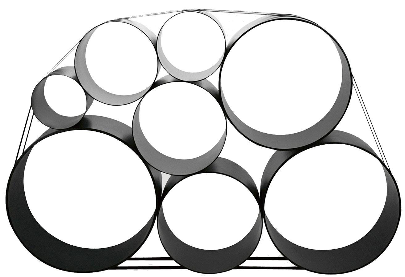 Úložný systém 100 Oto Storage System od značky Muuto, dizajn Pil Bredahl, sklenené vlákno, 160 × 105 × 30 cm,  aj v bielej, 574,87 €, www.designpropaganda.com
