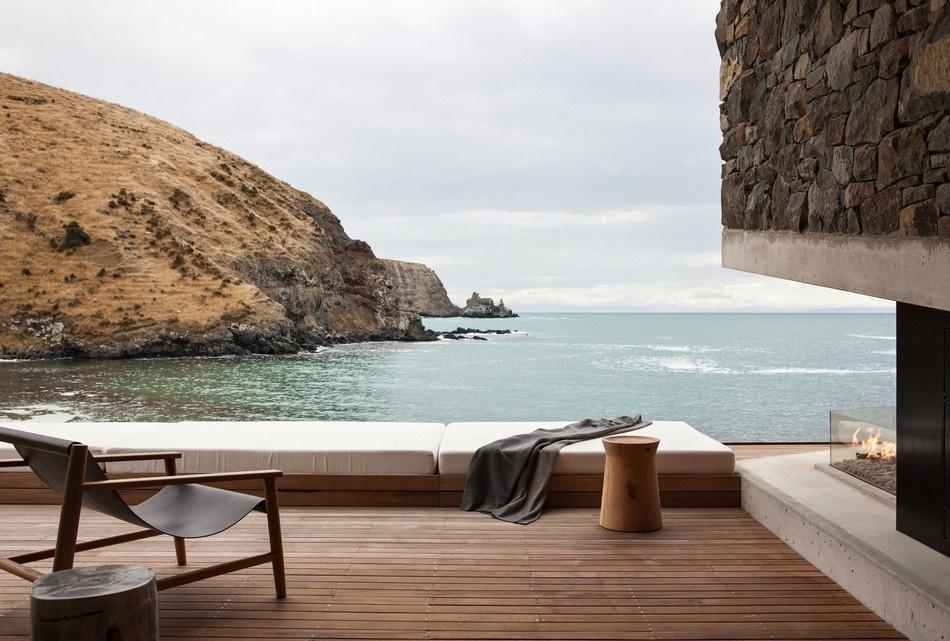 Moderná chata na Novom Zélande