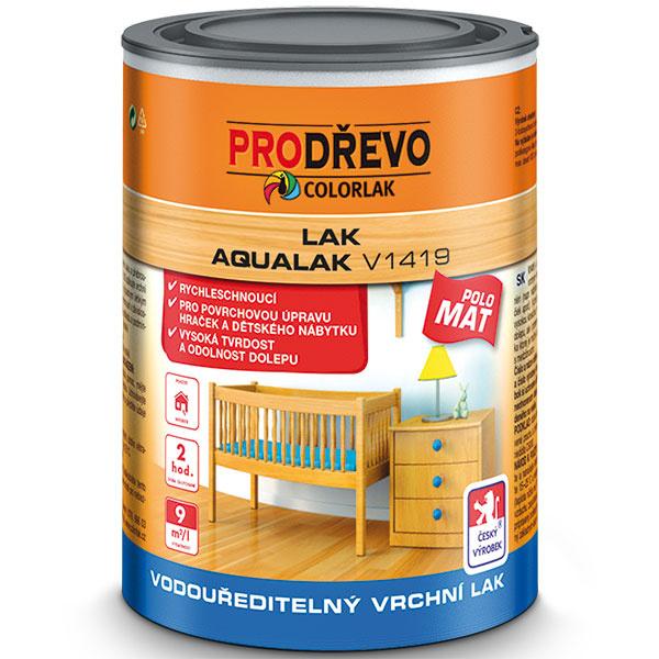 Na  lakovanie dreveného obkladu v interiéri možno použiť Aqualak v matnom, polomatnom alebo lesklom variante. Je vhodný aj na detský nábytok a hračky (vyrába Colorlak).