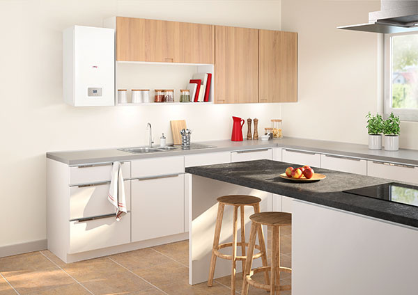 Nový kondenzačný kotol Gepard Condens sa hodí do každého interiéru.