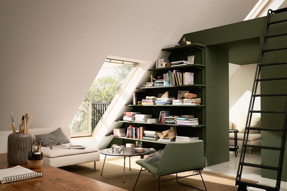 Strešný balkón pomôže efektívne vyvetrať obytné podkrovie prostredníctvom tzv. komínového efektu.