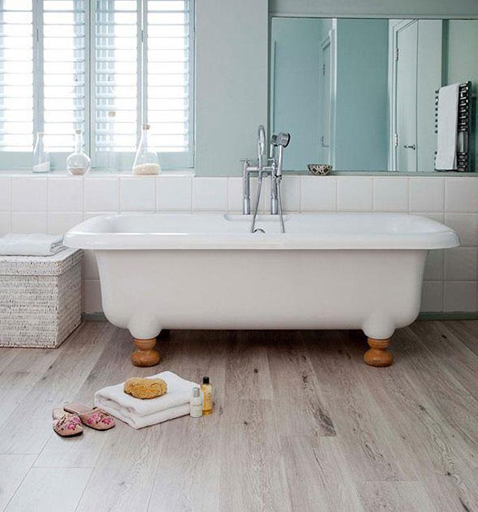 Korková podlaha sdekorom Printcork Oak Blanc, predáva www.korok.sk.