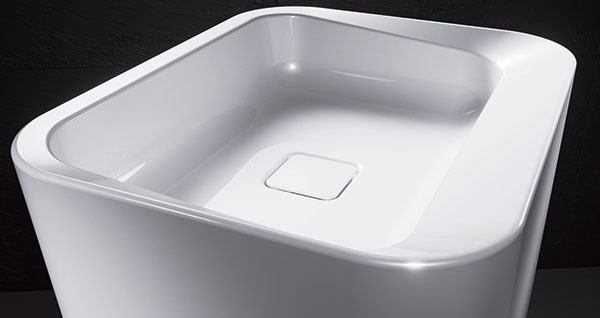 Umývadlo zo smaltovanej ocele Meistrestűck Emerso s 30-ročnou zárukou, ktoré firma Kaldewei uviedla na trh tento rok.