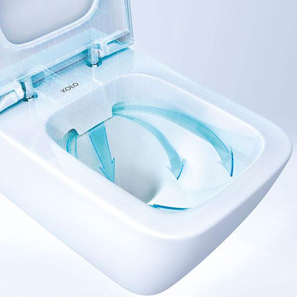 WC bez oplachovacieho kruhu Rimfree ®šetrí vodu a čistiace prostriedky