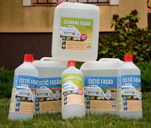 Prípravok čistič fasád od COLORLAK-u vráti vašej znečistenej fasáde pôvodný vzhľad!