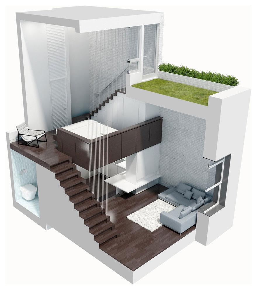 Ošumelý priestor premenili na elegantný mikroloft