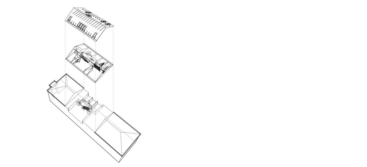Dispozičné riešenie loftu pracuje s dvoma úrovňami.