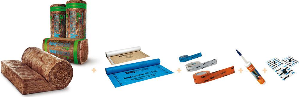 Na izoláciu šikmej strechy je vhodná ekologická minerálna vlna bez formaldehydov, fenolov apridaných farbív, vyrobená technológiou ECOSE, vkombinácii so vzduchotesným izolačným systémom Homeseal LDS. Systém sa skladá zdifúznych aparozábranových fólií, pások určených na napojenie fólií na ostatné stavebné konštrukcie aztesniaceho tmelu. Možno ho použiť pri šikmých strechách, drevostavbách, zateplených stropoch avšetkých montovaných stavebných konštrukciách, ktoré susedia svonkajším prostredím alebo oddeľujú od seba priestory srôznymi teplotami.