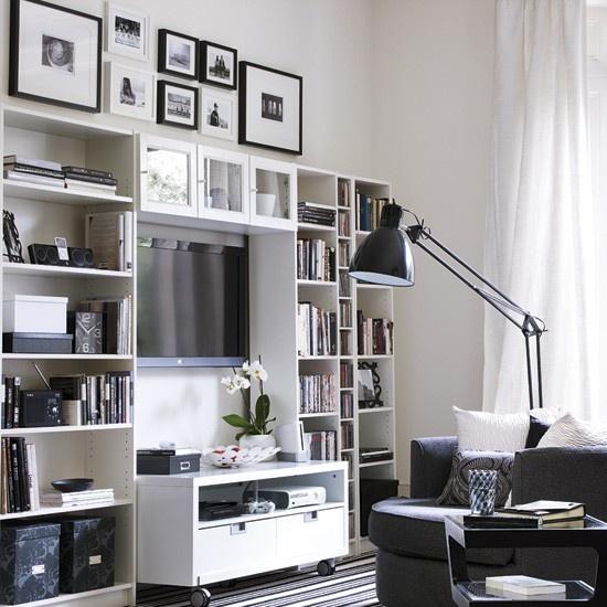 Inšpirácia: biela◦čierna◦obývacia izba