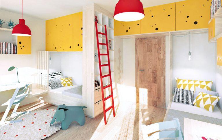 Ako z dvoch menších izieb spraviť spoločnú detskú izbu