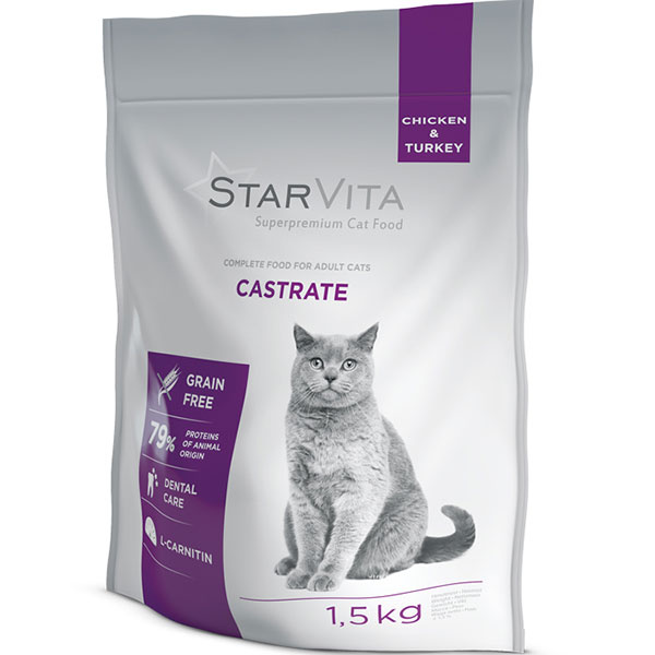 Holistické superprémiové krmivo STARVITA je vhodné pre všetky psy a mačky.