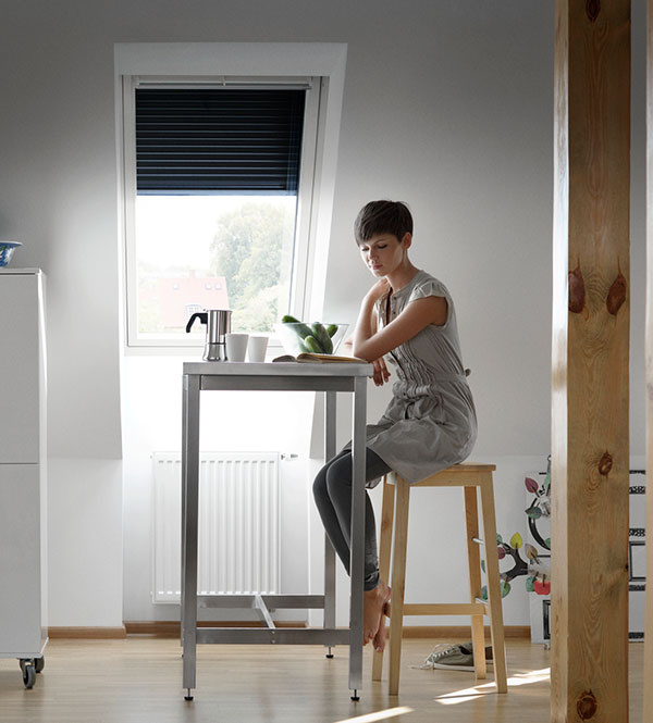 Vonkajšia roleta v interiéri zabezpečí príjemné vnútorné prostredie.