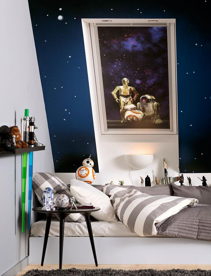 Nová kolekcia Star Wars & VELUX Galactic Night nie je zameraná len na deti; na svoje si prídu aj skalní fanúšikovia.
