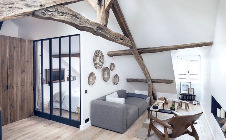 Krásny moderný byt s pôsobivým rustikálnym šarmom