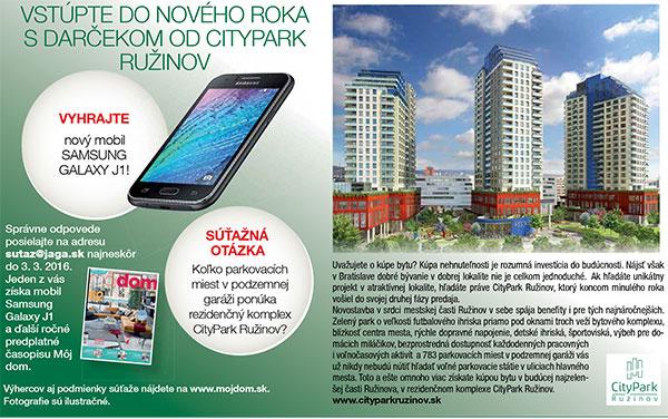 Vstúpte do nového roka s darčekom od CityPark Ružinov