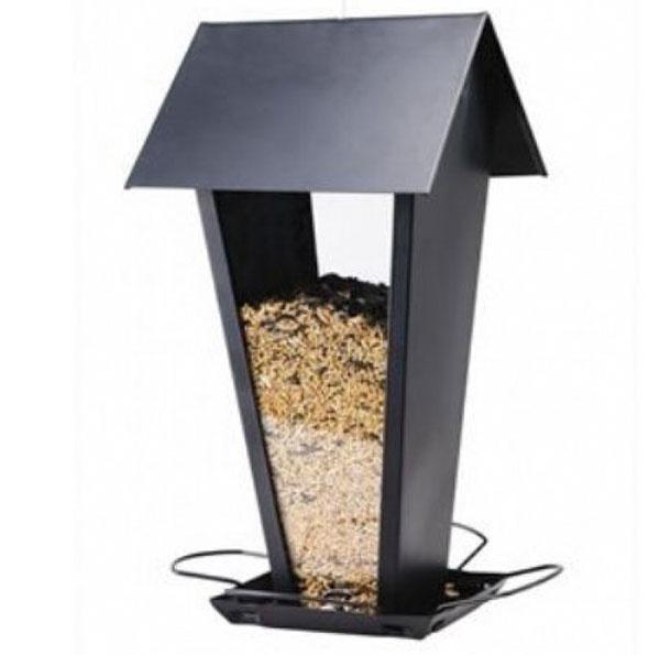 Kŕmidlo Passero Bird Feeder od značky Herstal, sklo, kov, 17 × 30 × 16 cm, 35 £ (cca 49,01 €), www.panik-design.com