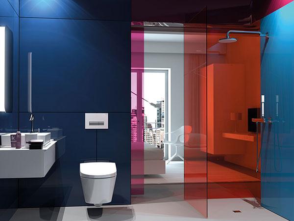 Nadčasový dizajn Geberit AquaClean Sela sa hodí do každej kúpeľne.