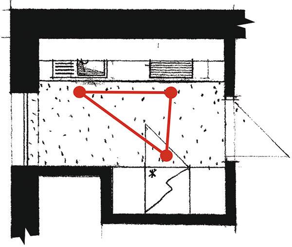 Paralelná (dvojstranná) Dve zostavy umiestnené oproti sebe pri stene sa postarajú onajlepšie využitie kuchynskej zóny. Toto riešenie vyhovuje najmä priechodným kuchyniam. Takto navrhnutá kuchyňa však nie je vhodná do veľmi širokých miestností, pohyb vnej by bol náročný anamáhavý. Obe časti by ale mali byť od seba vzdialené aspoň 1,2 m, aby sa dolné skrinky dali pohodlne otvárať.