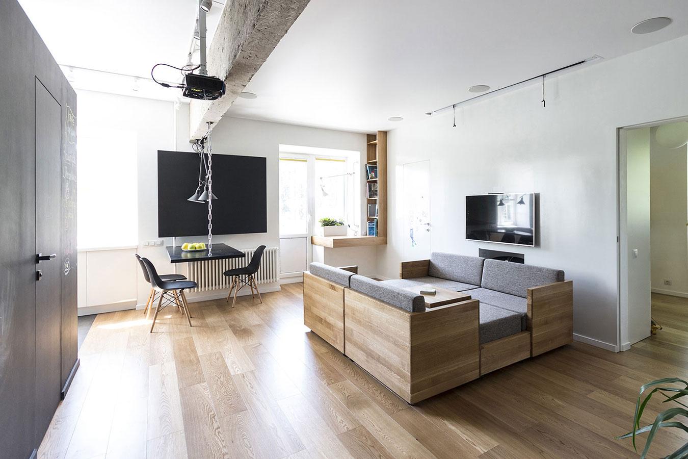 Aj takto môže vyzerať maximálna efektivita využitia priestoru v byte pre 4-člennú rodinu